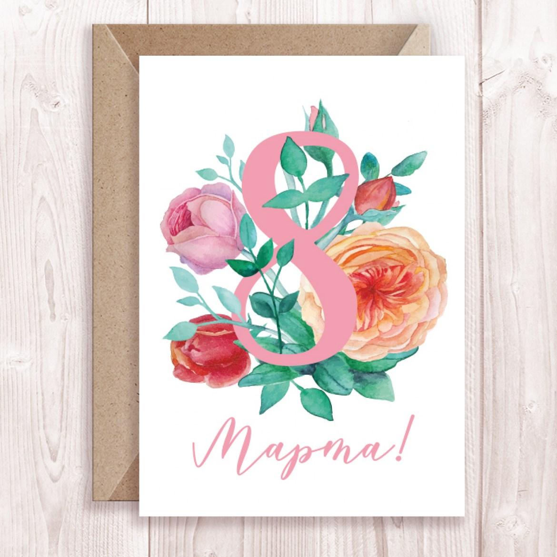 Дизайнерские открытки к праздникам